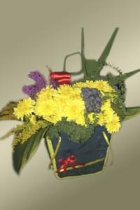 сумочка-Букет из хризантем
